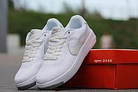 Кроссовки Nike Air Force Flyknit (белые) кожаные кроссовки найк nike