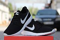 Кроссовки Nike Roshe Run (черные с белым) кроссовки найк роше ран nike