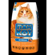 Корм для кошек Пан Кот сухой курица 10кг