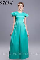 Стильное, длинное платье, летних оттенков