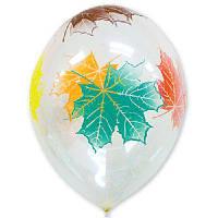 """Воздушные шары Листья клёна кристалл 14"""" (35 см), 25 штук в упаковке"""