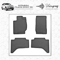 MITSUBISHI PAJERO SPORT 2011- Резиновые коврики Оригинальный размер Комплект состоит из 4-х ковриков