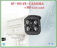 Ip wifi camera 720p + sd record + звук