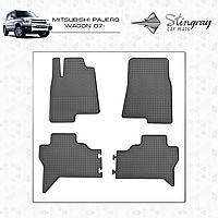 MITSUBISHI PAJERO WAGON 2007- Резиновые коврики Оригинальный размер Комплект состоит из 4-х ковриков