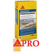Эластичный цементный клей для плитки SikaCeram®- Professional, 25 кг