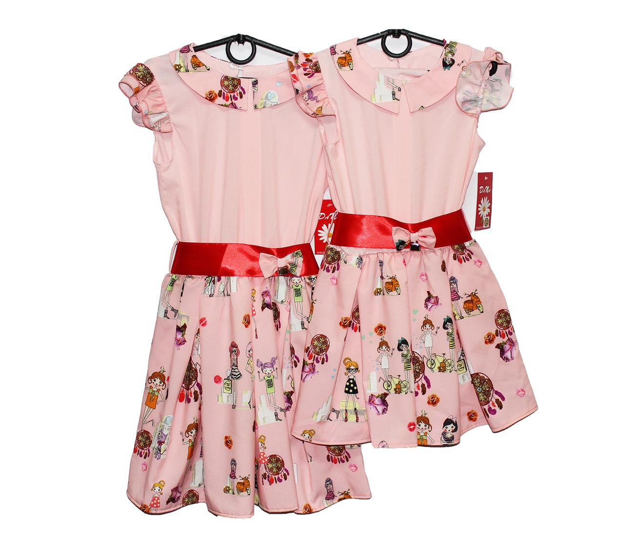 Платье детское трикотажное на лето Лента