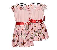 Платье детское трикотажное на лето Лента, фото 1