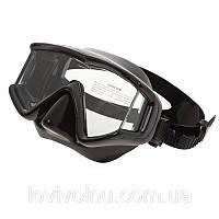 Маска Marlin BIG PANORAMIC  black  (трехстекольная)(маски для подводной охоты, для дайвинга)