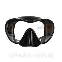 Маска Marlin FRAMELESS DUO black (безрамочная)(маска для дайвинга, маска для плавания )