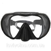 Маска Marlin FRAMELESS UNO black (безрамочная)(маска для плавания, маска для дайвинга)