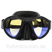 Маска Marlin HUNTER black + просветленные стекла (маска Marlin для подводной охоты, маска для дайвинга)