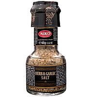 Специи Herb & Garlic Salt Niko травы, чеснок и соль с мельницей, 65 г