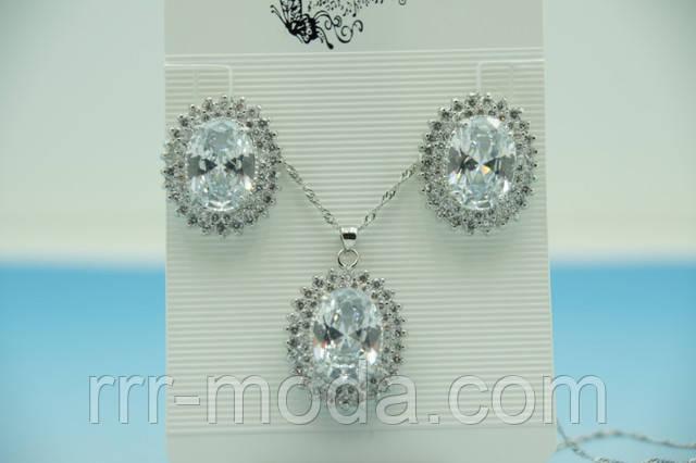 Ювелирная бижутерия комплекты украшений с кристаллами Swarovski