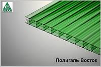 Сотовый поликарбонат Полигаль 8мм зеленый