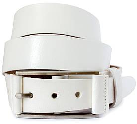 Класичний шкіряний чоловічий ремінь в білому кольорі в стилі Energie (11264)