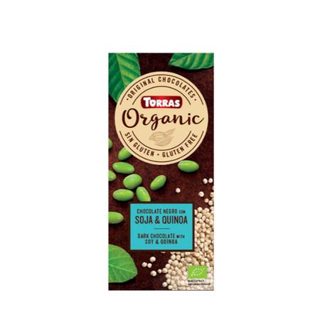 Черный шоколад Шоколад Torras ORGANIC (с соевыми бобами и киноа), 100г
