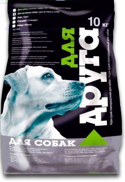 Корм для собак Для друга 10кг для Активных собак O.L.KAR.