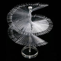Палитра спиральная на подставке (120 шт)- прозрачная, фото 1