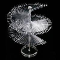 Палитра спиральная на подставке (120 шт)- прозрачная