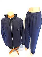 Спортивный костюм мужской полноразмерный Nike реплика весна темный синий разм. 50-56