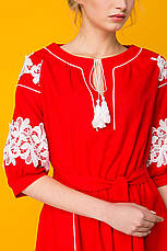 Красное платье из льна Логан, фото 2