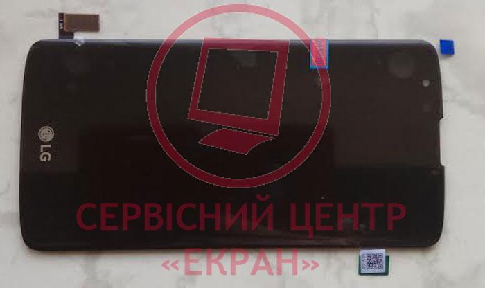 LG K8 LTE K350e дисплей в зборі з тачскріном модуль чорний