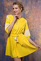 Желтое платье из льна Логан