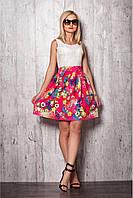 Женское платье № 941 малина