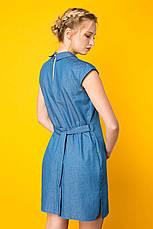 Молодежное платье на лето Донна голубое, фото 3