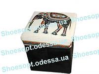 Пуфик складной декоративный Слон 30х30х30см