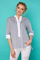 Легкая летняя рубашка Рона синяя