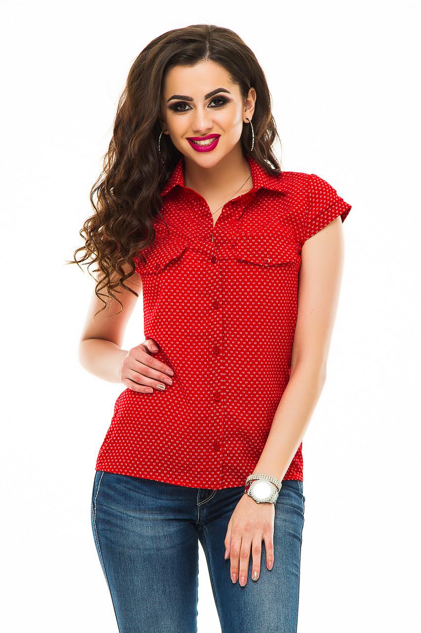 Блузка 241 красная СК размер 44