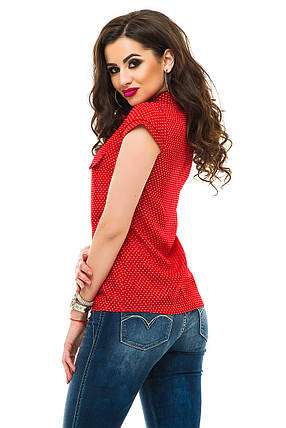 Блузка 241 красная СК размер 44, фото 2