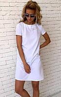 Женское платье с открытой спиной белое 091