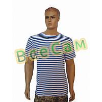 Тельняшка-футболка вязаная ВДВ (голубая, ВДВ, десантная)