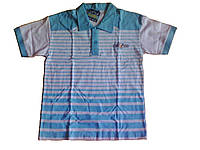 Тениска с коротким рукавом, в голубую полоску