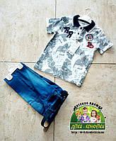 Летний костюм для мальчика: футболка Поло и джинсовые шорты