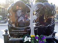 Памятники из гранита двойные габбро (Образцы №427)