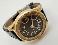 Женские часы Guardo Cristal - Italy, цвет золото, черный циферблат, фото 1