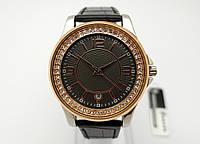 Женские часы Guardo Cristal - Italy, цвет золото и серебро, черный циферблат