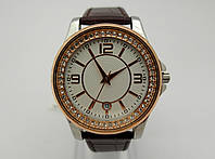 Женские часы Guardo Cristal - Italy, цвет золото и серебро, белый циферблат, фото 1