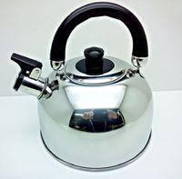 Чайник из нержавейки со свистком, с двойным дном 3л. (А-Плюс WК-1322)