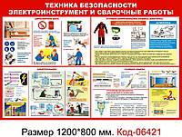 """Стенд пластиковий """"Електроінструмент зварювальні роботи"""" Код-06421"""