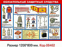 """Стенд """"Защитные средства"""" Код-06462"""