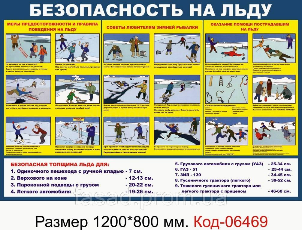 """Стенд """"Безпека на льоду"""" Код-06469"""