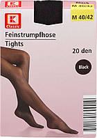 Колготки чорні K-Classic Feinstrumpfhose 20 den Schwarz Gr.40/42