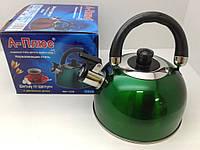 Чайник из нержавейки со свистком,с двойным дном 2,5л. (А-Плюс WК-1329)