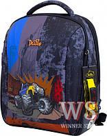 Ранец школьный рюкзак детский для мальчиков фабричный Бренд DE LUNE с Монстер Траком