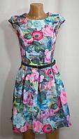Модное летнее разноцветное платье для девушки