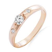 Золотое кольцо с бриллиантами 0,18 карат